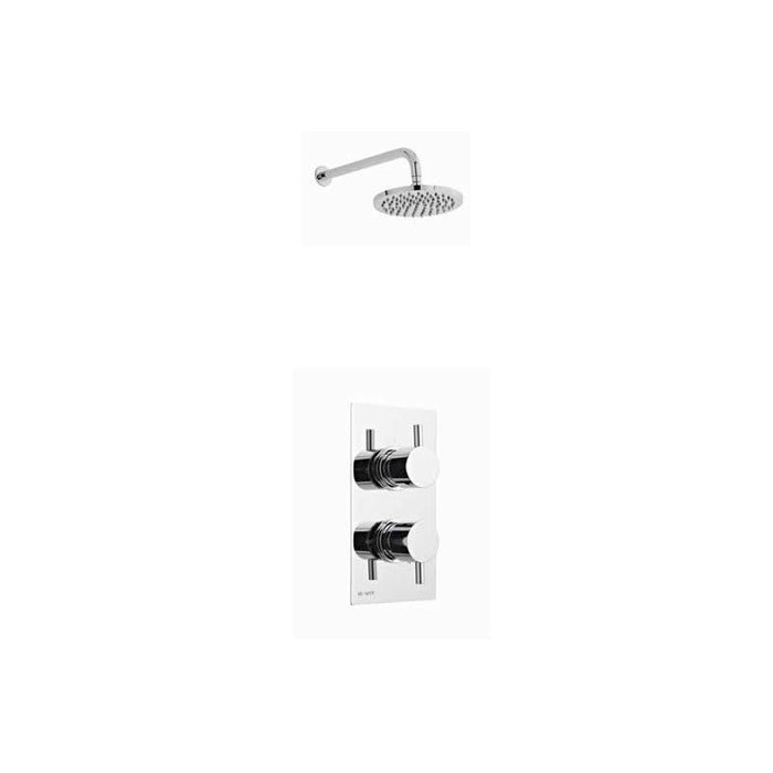 KARTELL OPTION 2 THERMOSTATIC CONCEALED SHOWER WITH FIXED OVERHEAD DRENCHER