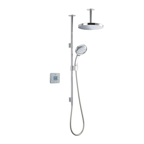 MIRA VIER DUAL PUMPED CEILING FED DIGITAL SHOWER