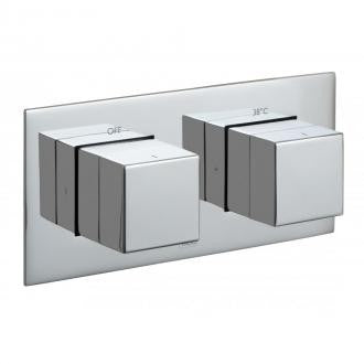 Vado Tablet Horizontal 1 Outlet, 2 Handle Thermostatic Shower Valve
