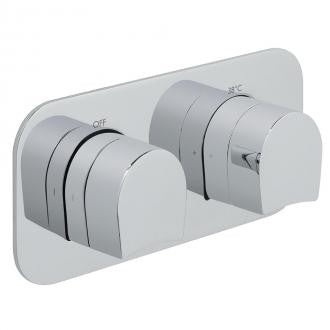 Vado Kovera Horizontal Concealed 1 Outlet, 2 Handle Thermostatic Shower Valve