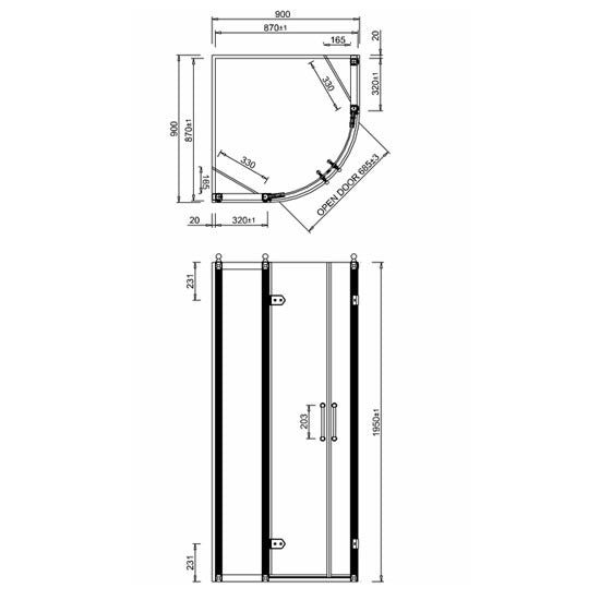 Burlington Quadrant Enclosure - Choose Size