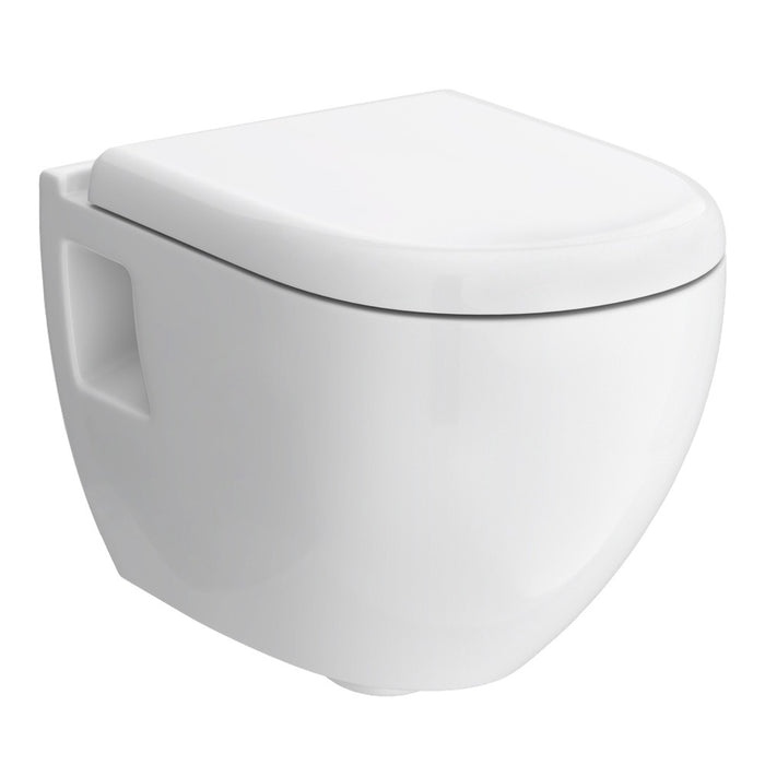 Hudson Reed Round Wall Hung Pan + Top-Fix Soft-Close Seat
