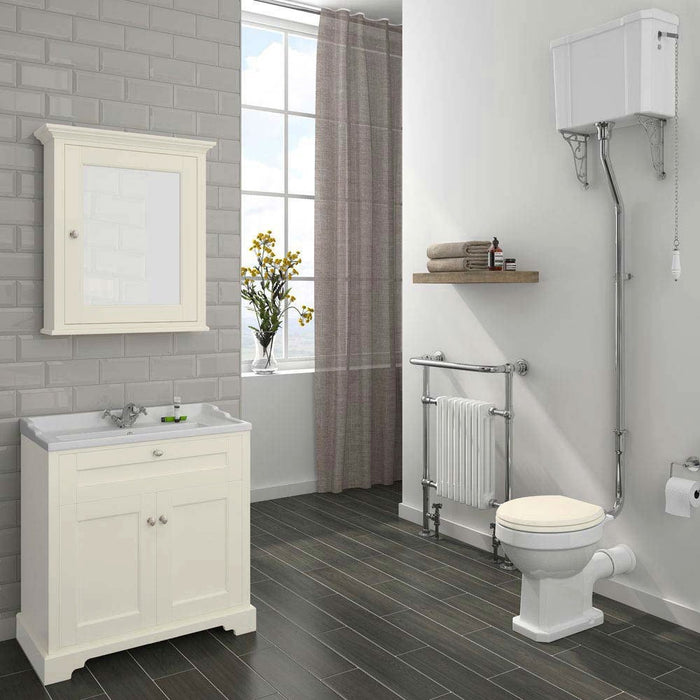 Old London Traditional 800mm Wide Vanity Unit & Basin - Choose Colour