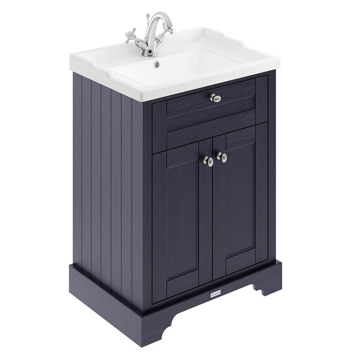 Old London 600mm 2-Door Cabinet & Basin - Choose Colour