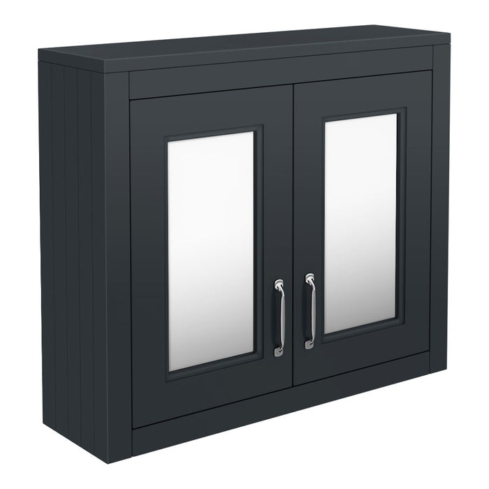 Chatsworth 690mm 2-Door Mirror Cabinet - Choose Colour