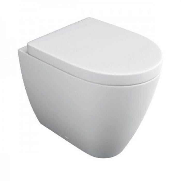Kartell KVit Genoa Back To Wall WC Toilet with Soft Close Seat
