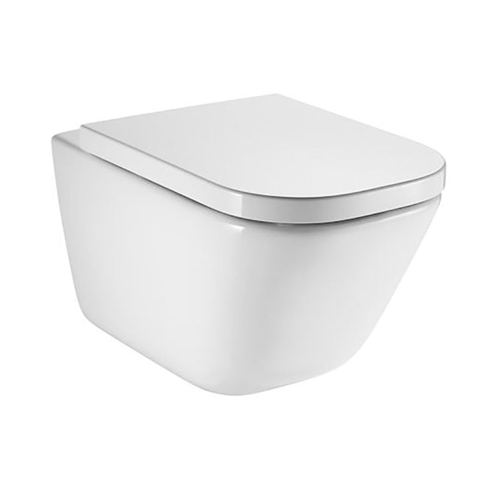 Roca The Gap Rimless Wall Hung Toilet & Compact Soft Close Seat