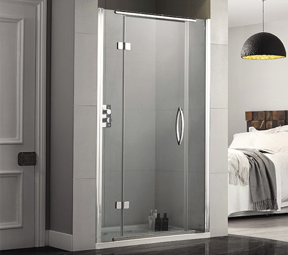 Aquadart Inline Hinged Recess Shower Door - Choose Size