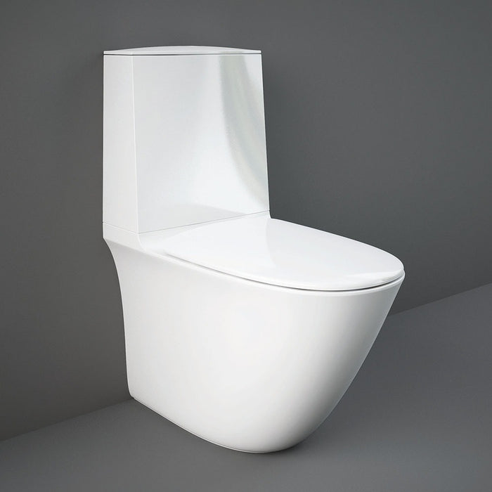 RAK Sensation Rimless BTW Close Coupled Toilet & Soft-Close Seat