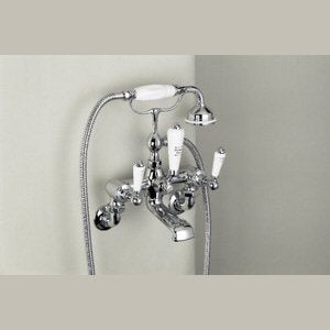 Marflow St James White Lever Handle Wall Mounted Bath Shower Mixer