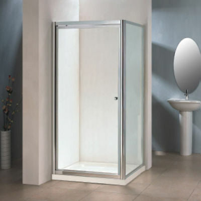 Smartline Infold Door Chrome - Tempered Glass