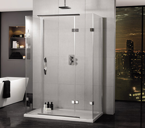 Aquadart AQ1020 Hinged Door 2 Sided Inline Shower with Side Panel