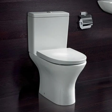 Alan T Carr Aleo Round WC Toilet Pan with Cistern & Seat - Choose Seat