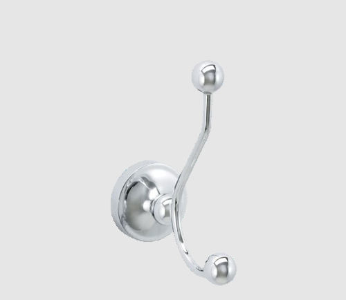 Savoy Thames Solid Brass Double Bathroom Robe Hook - Chrome