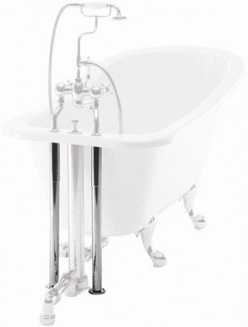 Burlington W7 Decorative Bath Shroud Including Horizontal Support Bar