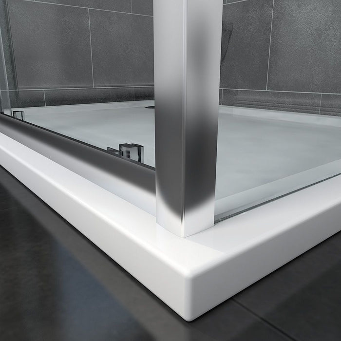 Elle 1100x1000mm Sliding Shower Enclosure 8mm Easy Clean Glass Cubicle