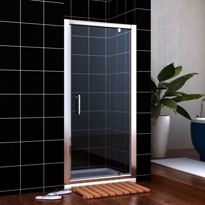 Elle Framed Pivot Hinged Shower Door 6mm Tempered Glass Swing Door - Choose Size