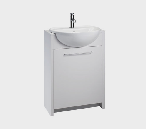 Openspace 305 Semi Inset Vanity Unit & Soho Semi Recess Basin