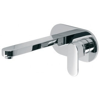 Vado Life Wall Mounted Single Lever Basin Mixer Tap with Backplate