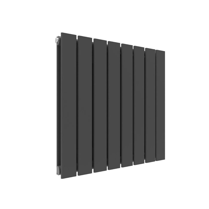 Elle 600 x 600mm Anthracite Double Flat Panel Horizontal Designer Grey Column Radiator