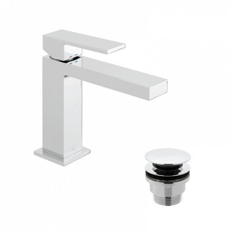 Vado Notion Mono Basin Mixer Single Lever Deck Mounted with Clic-Clac Waste