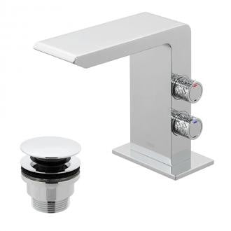 Vado Omika Basin Mixer Tap with Universal Waste