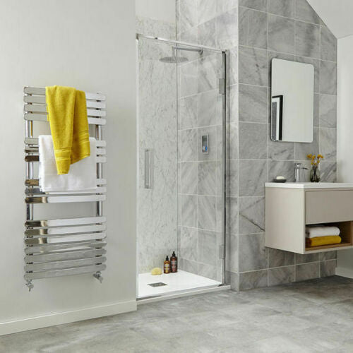 Vetri Shower Hinge Door with Chrome Frame & Clear Glass