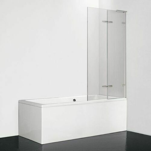 LIQUID Bath Screen Chrome & Clear Glass 8mm