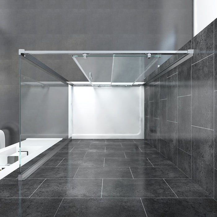 Elle 1500x760mm Sliding Shower Enclosure 8mm Easy Clean Glass Cubicle