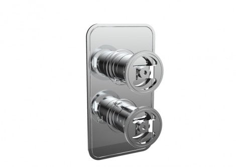 Crosswater Union Thermostatic Shower Valve with 2 Way Diverter Multi-flow Wheel Control  - Choose Colour