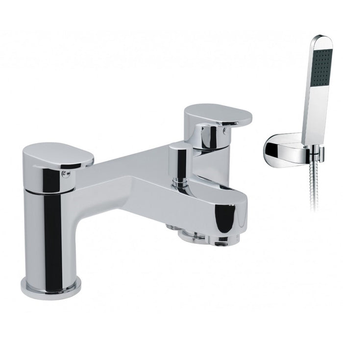 Vado Life Chrome Plated Deck Mounted 2 Hole Bath Shower Mixer