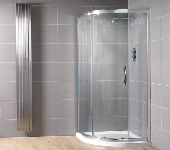Aquadart Venturi 8 Single Door Quadrant Shower Enclosure - Choose Size