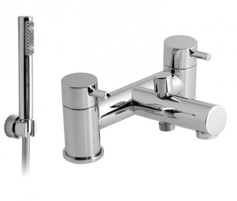 Vado Zoo Chrome Plated Deck Mounted 2 Hole Bath Shower Mixer With Shower Kit