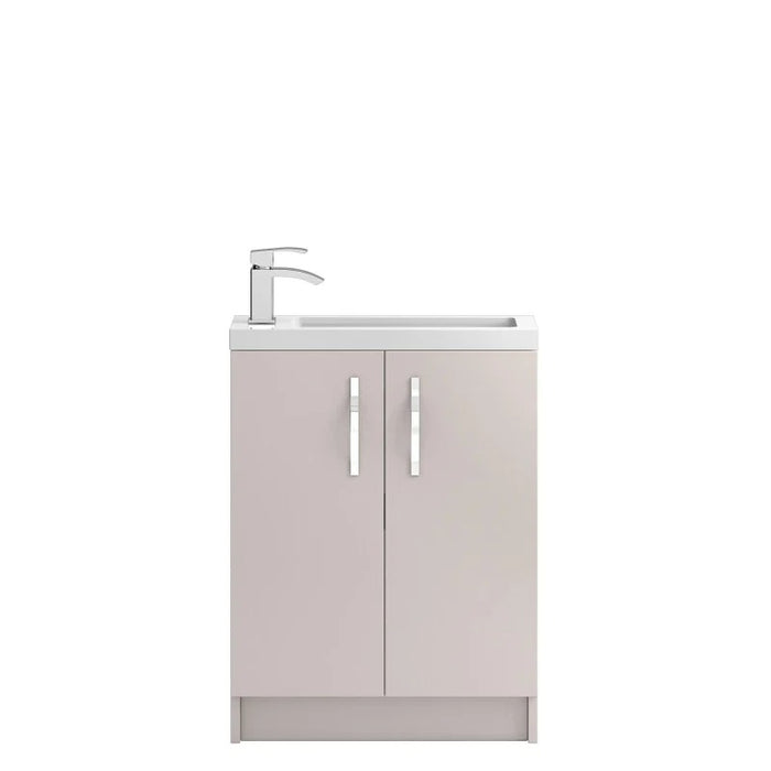 Hudson Reed Apollo Compact Floorstanding 600mm Cabinet and Basin - Choose Colour
