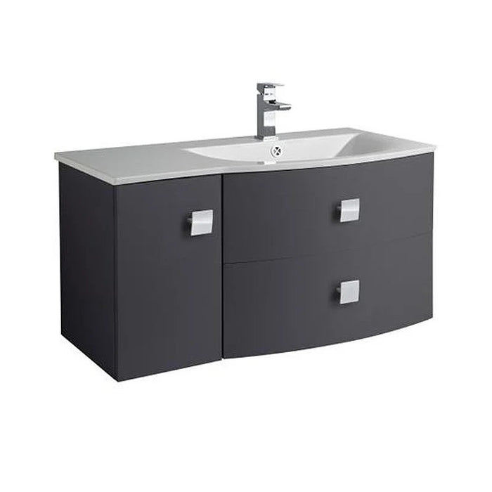 Hudson Reed Sarenna 1000mm Wall Hung Cabinet & Basin Right Hand - Choose Colour