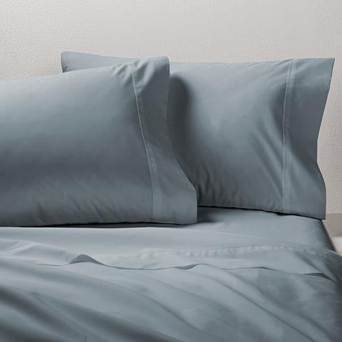 250TC WASHED COTTON PERCALE SHEET SET - OASIS GREEN