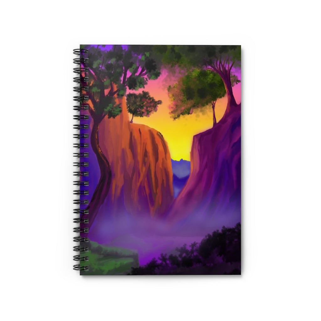 A Beautiful Mountain Scenic View Spiral Notebook