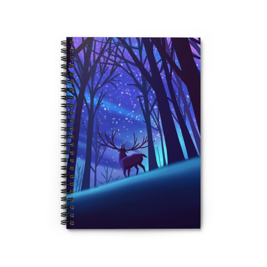 Deer In Forest Spiral Notebook