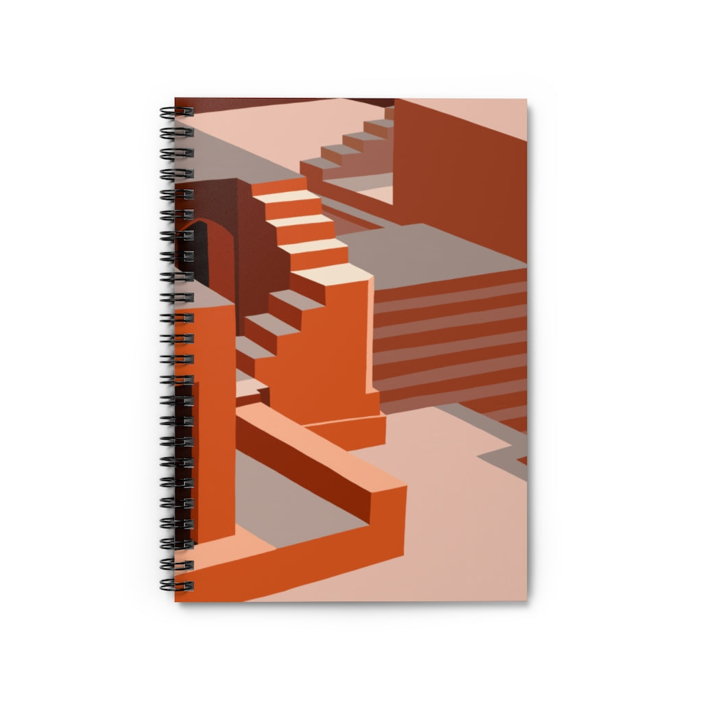 Illusion Stairs Spiral Notebook