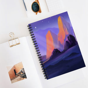 Ice Mountain Spiral Notebook