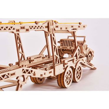 Wooden Car Trailer Puzzle Toy (addition to the Big Rig)-MercadoGames.com
