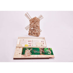 Windmill Wooden Puzzle Toy-MercadoGames.com