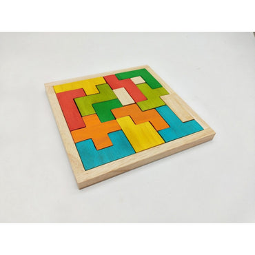 QToys Tetris Wood Blocks Puzzle Toy-MercadoGames.com