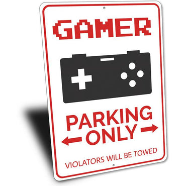Gamer Parking Sign