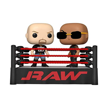 Funko Pop! Moment: WWE - The Rock vs Stone Cold in Wrestling Ring-MercadoGames.com
