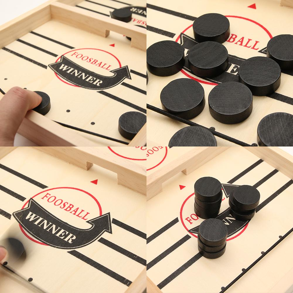 Table Hockey Game Parent-child Interactive Toy Puck Board Game Toys-MercadoGames.com