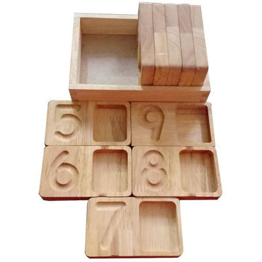 Counting and writing tray -  Wooden Toy
