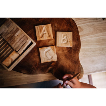 Capital letter tray - Wooden Toy