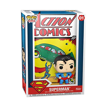 Funko Pop! Vinyl Comic Cover: DC - Superman Action Comic-MercadoGames.com