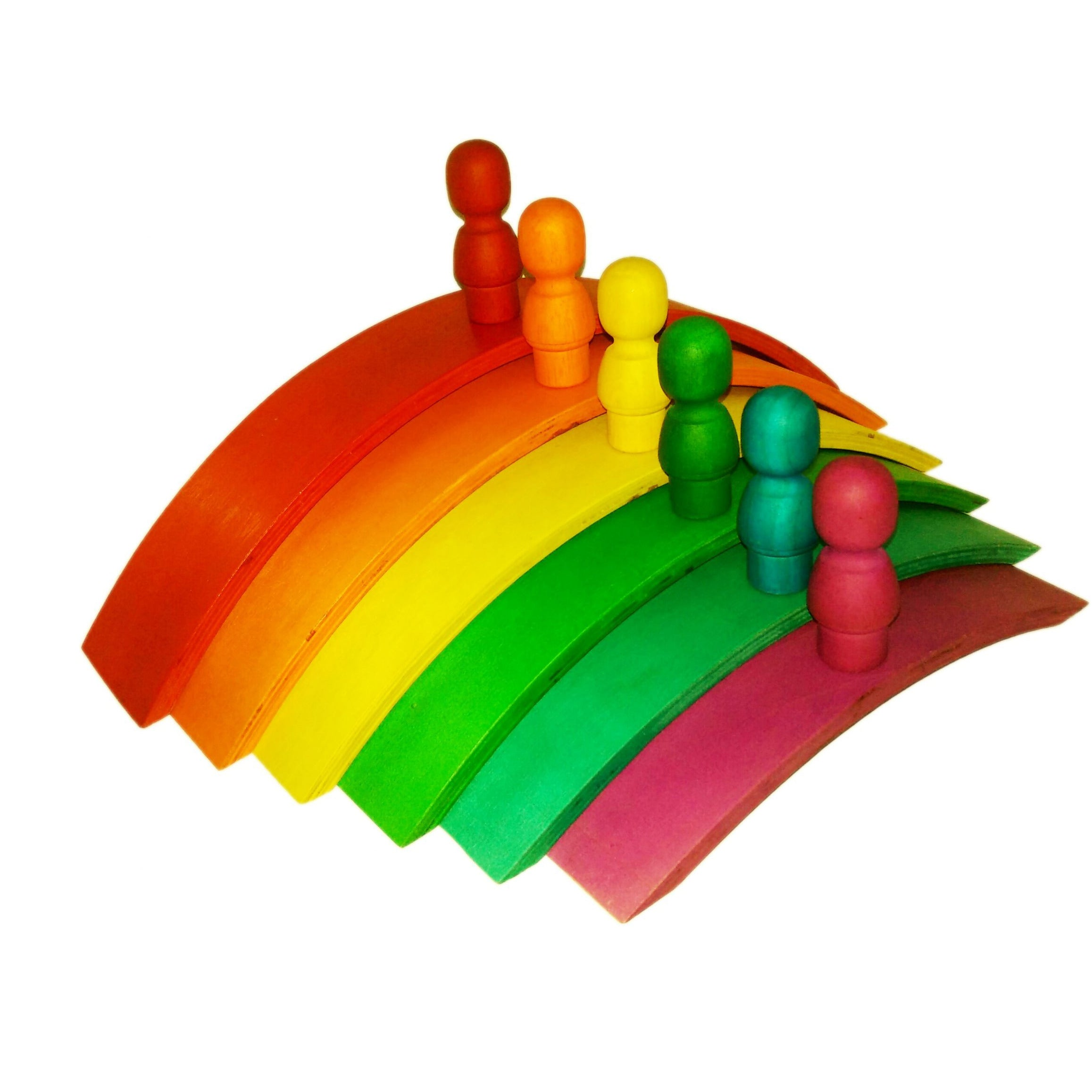 QToys Rainbow Wooden Arch Set Toy-MercadoGames.com